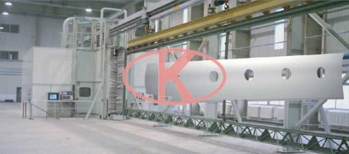 飞机机翼数控喷丸成型机床-上海良时喷丸强化设备