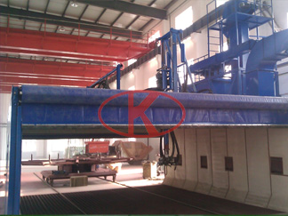 Wind power bearing control automatic shot peening equipment